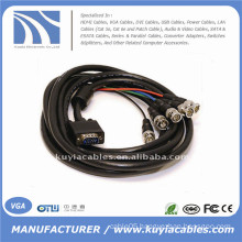 HD15 VGA to 5 BNC RGB HV adapter Cable